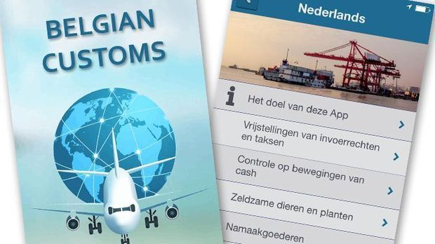 Appli des douanes belges