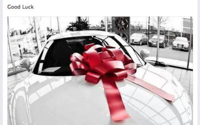 Gagner une voiture luxueuse sur Facebook?